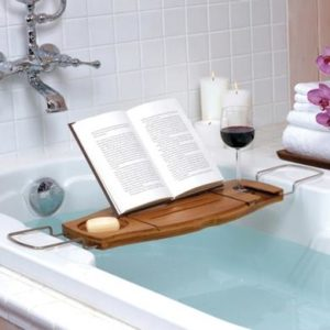 25 Last Minute Gifts for Book Lovers Book Bath Caddy