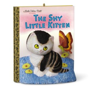 25 Last Minute Gifts for Book Lovers Little Golden Books The Shy Little Kitten Christmas Ornament